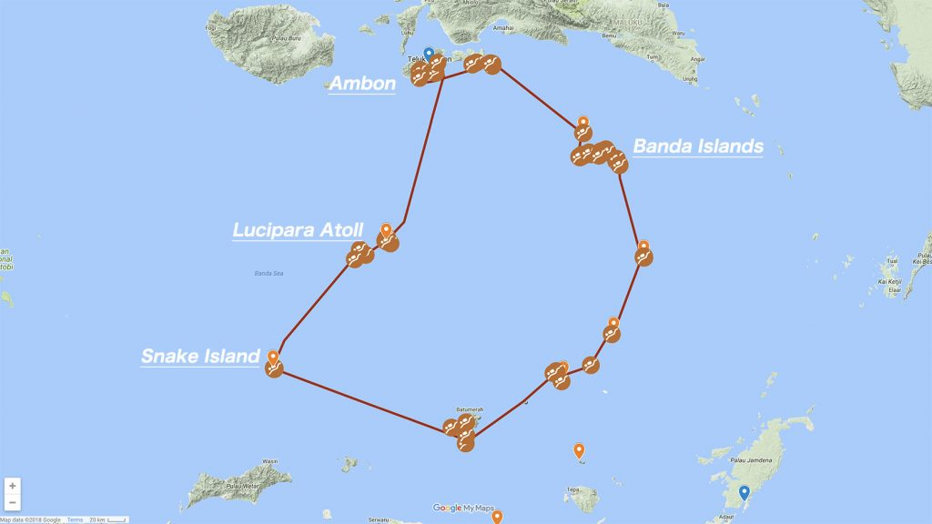 Map Banda Sea Liveaboard Cruise